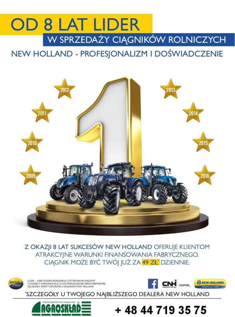 Lider sprzedaży maszyn rolniczych NEW HOLLAND - Agroskład